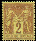 France : 2c brun-rouge type Sage N sous U