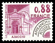 France : 0,88 lilas Ajaccio, la Chapelle Impériale